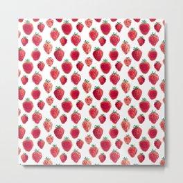strawberry field pixels Metal Print