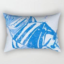 Blue victory Rectangular Pillow