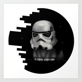 Kitteh Star Trooper Art Print