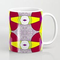 hot fuzz Mugs featuring Purple Fuzz  by KcD Culture