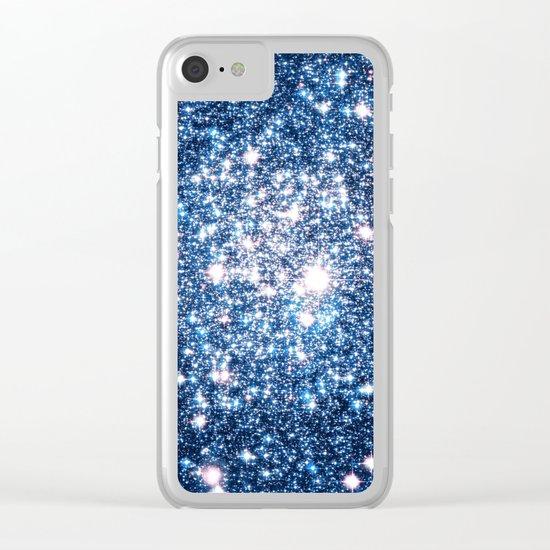 Galaxy Stars: Riverside Blue Clear iPhone Case