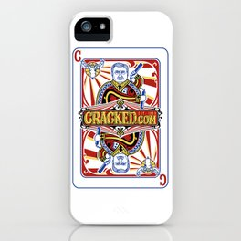 The Cracked Wild Card iPhone Case