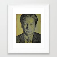 mulder Framed Art Prints featuring Mulder  by Jenn