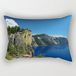 Crater Lake  and Lavacliffs Rectangular Pillow