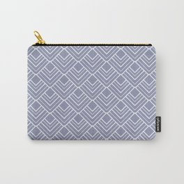 Paris Elegance - Muted Blue Geometry Carry-All Pouch