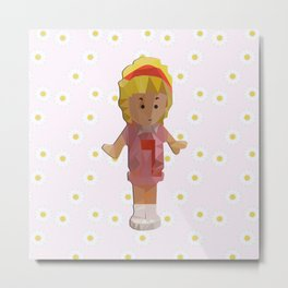 I'm a polly-girl in a polly world Metal Print