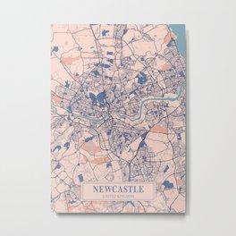 Newcastle - United Kingdom Breezy City Map Metal Print