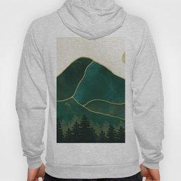 Mt Hood Emerald Mountain Abstract Hoody