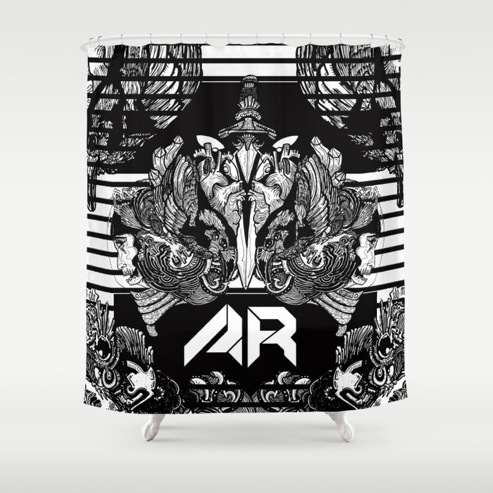 All Radical Shower Curtain By Spaceculture