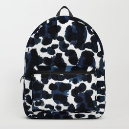 Blue Abstract Watercolour Backpack