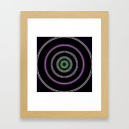 purple with a green core Framed Art Print