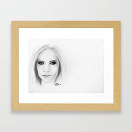Avril Lavigne Framed Art Print
