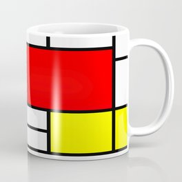 Mondrian Art Coffee Mug