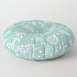 Mint floral Floor Pillow