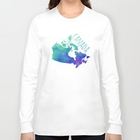 canada Long Sleeve T-shirts featuring Canada by Stephanie Wittenburg