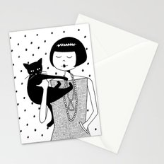 the cat's meow Stationery Cards