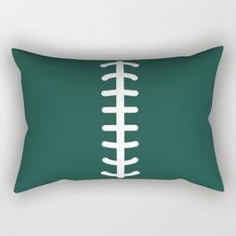 Football Green Rectangular Pillow