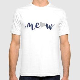 Cat alert // grey linen texture background T-shirt