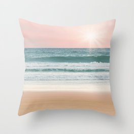 Sand, Sea, and Sky Throw Pillow