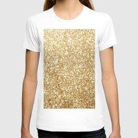 gold glitter T-shirts featuring Gold glitter by Masanori Kai