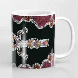 Crocodile - Authentic Aboriginal Art Coffee Mug