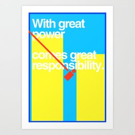 Minimal Superhero Poster Art Print