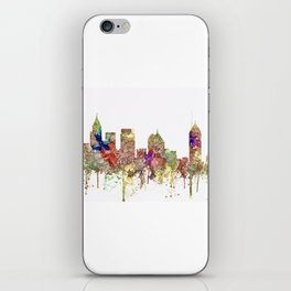 Augusta Georgia Skyline SG - Faded Glory iPhone Skin