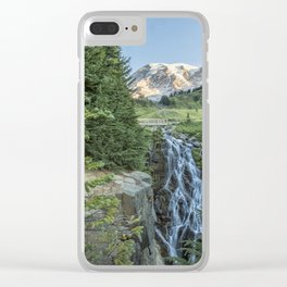 Early Morning at Myrtle Falls Clear iPhone Case