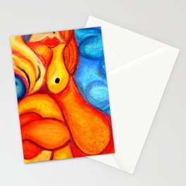 A Seeping ladle in orange & red Stationery Cards