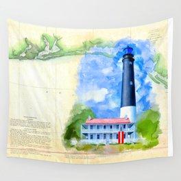 Vintage Florida Panhandle - Pensacola Lighthouse Wall Tapestry