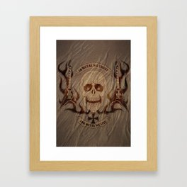 Heavy Metal Skull Framed Art Print