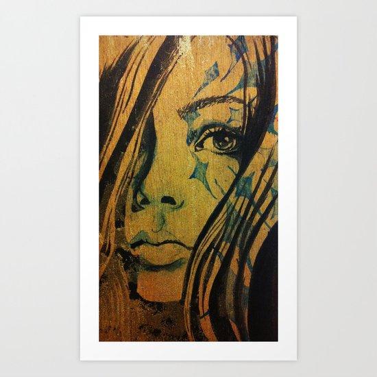 Azurite Art Print