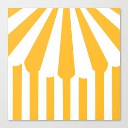 yellow tent Canvas Print