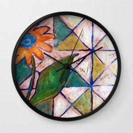 Rustic Flower Wall Clock