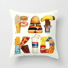 FAT KID Throw Pillow