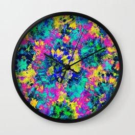 Neon Rave Print Wall Clock