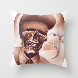 skate and destroyed Throw Pillow