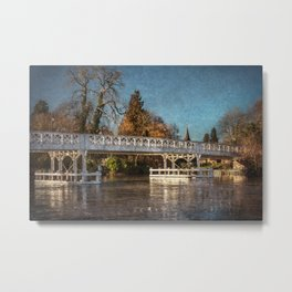The Toll Bridge At Whitchurch-on-Thames Metal Print