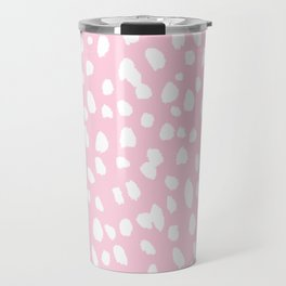 Dalmation in pink and white Travel Mug