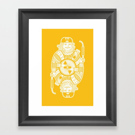 King of the road Framed Art Print