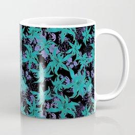 Purple blue floral pattern Coffee Mug