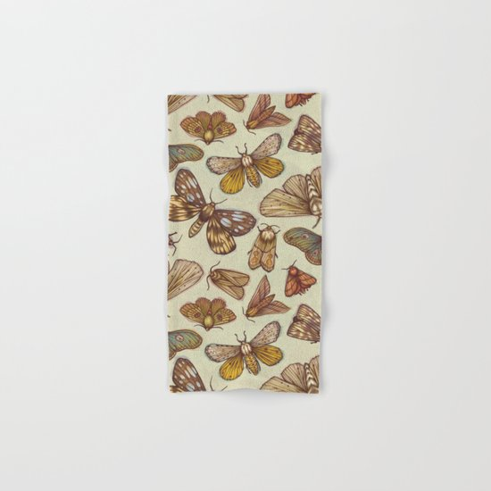 Moth Pattern Hand & Bath Towel