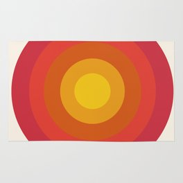 Right On - retro throwback 70s 1970s bullseye beach 70's vibes minimal art by Seventy Eight Rug