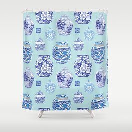 Chinoiserie Ginger Jar Collection No.3 Shower Curtain
