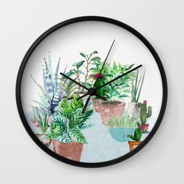 Plants 2 Wall Clock