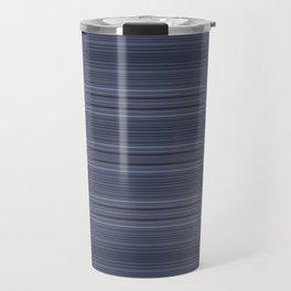 Rich Indigo Blue Diamond Design Travel Mug