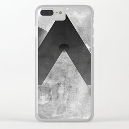 shapes in black and white Clear iPhone Case
