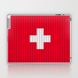 Swiss flag by Qixel Laptop & iPad Skin