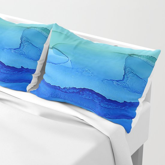 Alcohol Ink Seascape by klaraacel