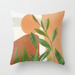 Nature Geometry X Throw Pillow